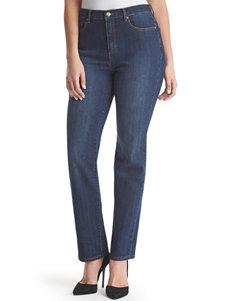Gloria Vanderbilt Petite Dark Wash Amanda Short Length Jeans