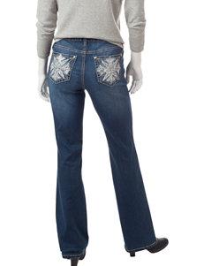 Earl Jean Petite Dark Wash Bling Bootcut Jeans