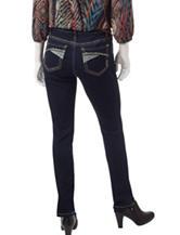 Earl Jean Petite Dark Wash Embellished Skinny Jeans