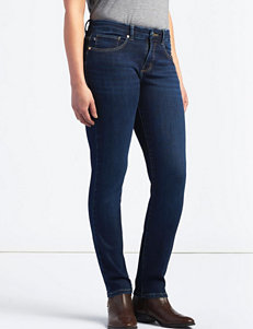 Lee Petite Dark Wash Mid Rise Skinny Jeans