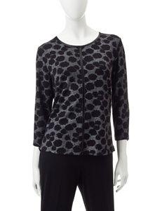 Cathy Daniels Petite Dot Print Sweater