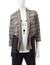 Alfred Dunner Petite Abstract Print Layered-Look Top