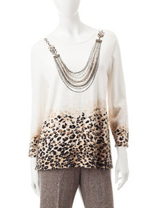 Alfred Dunner Petite Necklace Top