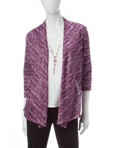 Alfred Dunner Purple Multi Shirts & Blouses