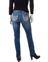 Earl Jean Petite Dark Wash Skinny Jeans