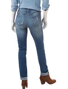 Earl Jean Petite Distressed Cuffed Jeans