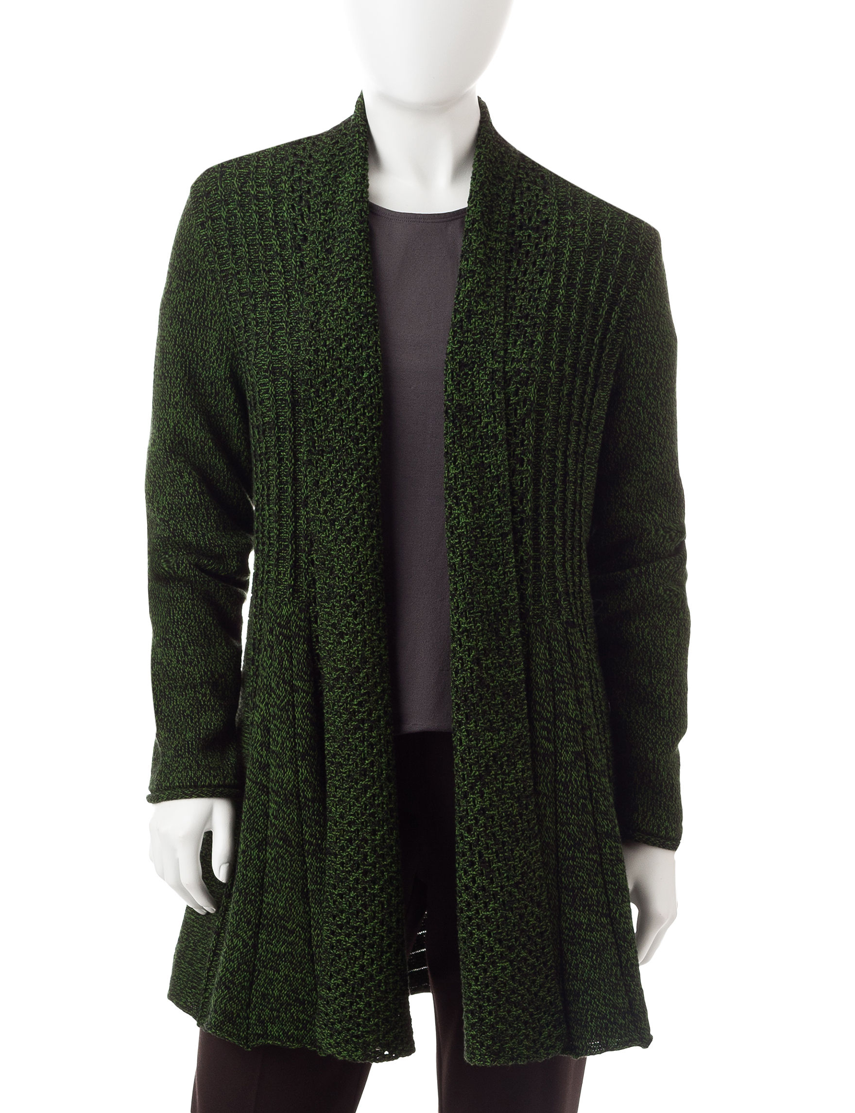 NY Collection Green Cardigans Sweaters
