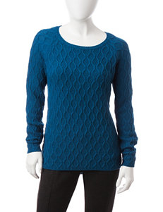NY Collection Blue Pull-overs Sweaters