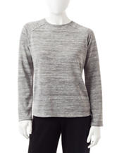 Cathy Daniels Petite Shimmer Raglan Sweater