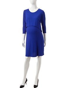 Three Season Maternity Royal Blue