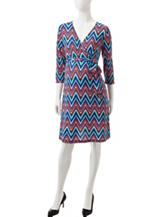 Three Seasons Maternity Chevron Print Dress