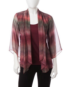 Rebecca Malone Petite Plaid Print Layered-Look Top
