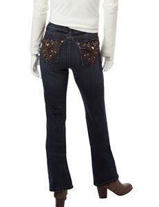 Earl Jean Petite Bling Slim Bootcut Jeans