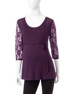 Three Season Maternity Purple