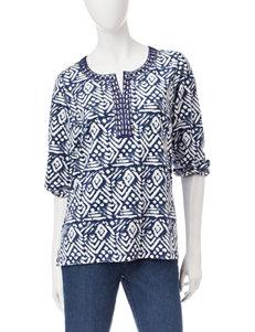 Cathy Daniels Print Shirts & Blouses