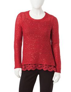 Signature Studio Petite Sequin Pullover Sweater