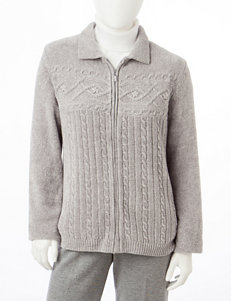 Alfred Dunner Petite Chenille Knit Cardigan
