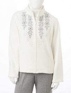 Alfred Dunner Petite Floral Yoke Jacket