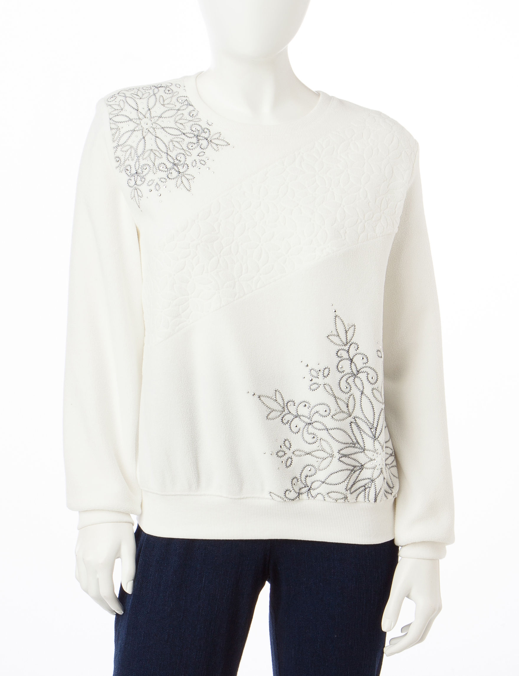 Alfred Dunner Ivory Sweaters