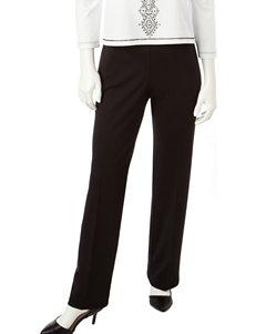 Alfred Dunner Proportioned Short Length Black Pants