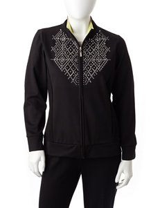 Alfred Dunner Petite Rhinestone Accented Jacket