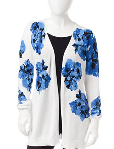 NY Collection Petite Floral Print Cardigan