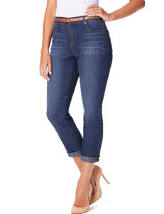 Gloria Vanderbilt Petite Stefania Slim Roll-up Cropped Jeans