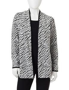 Rebecca Malone Petite Zebra Print Layered-Look Top