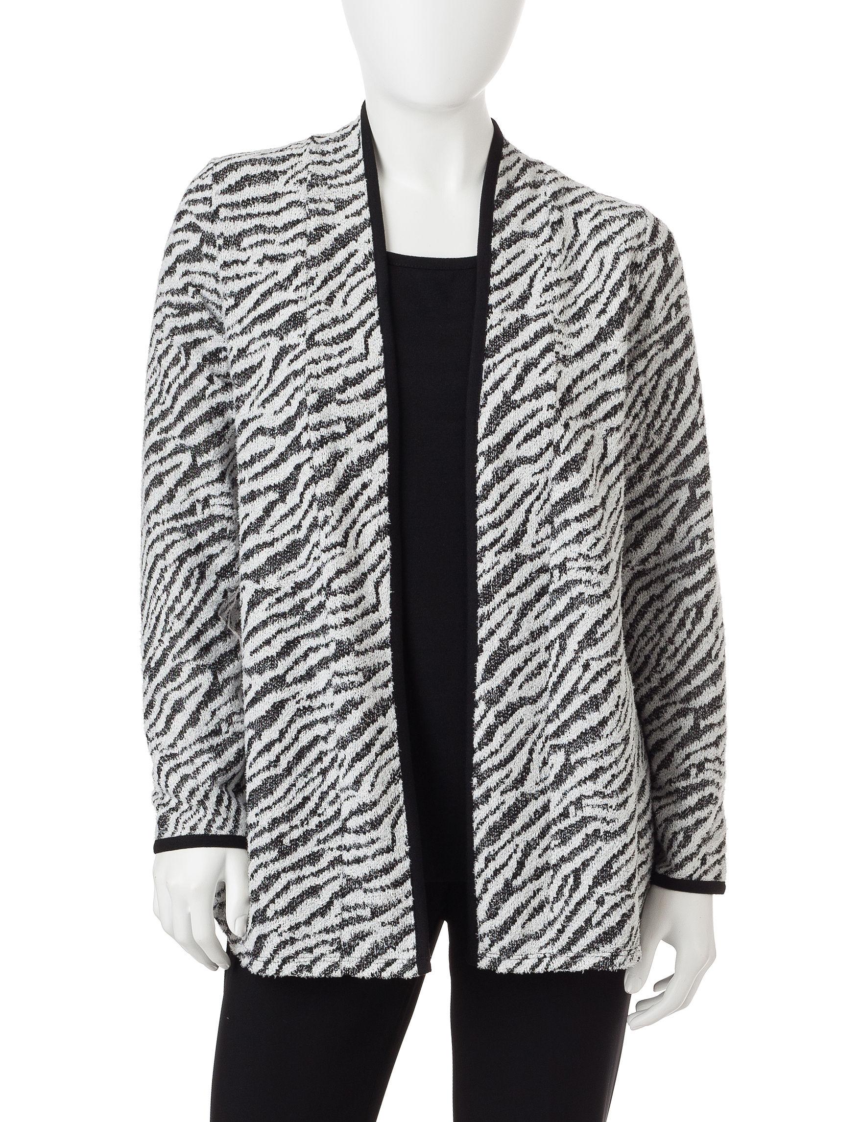 Rebecca Malone Black / White Sweaters