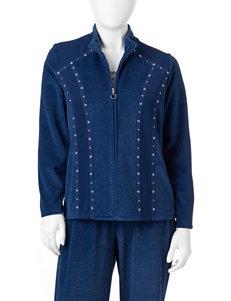 Alfred Dunner Petite Velour Jacket