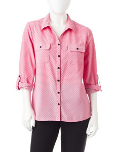 NY Collection Pink Shirts & Blouses