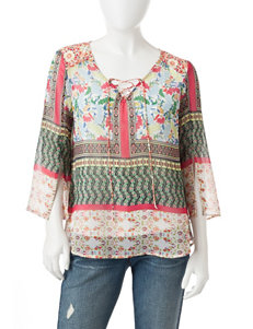 Figuero & Flower Red Shirts & Blouses