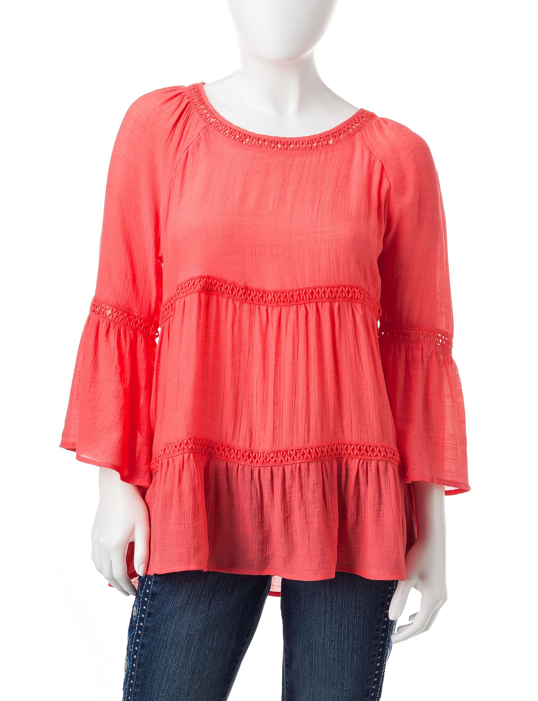 Spense Coral Shirts & Blouses