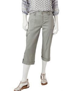 Gloria Vanderbilt Green Capris & Crops