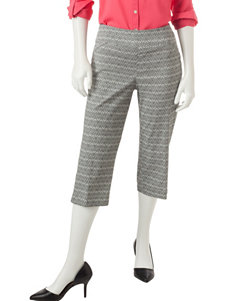 Briggs New York Black / White Capris & Crops