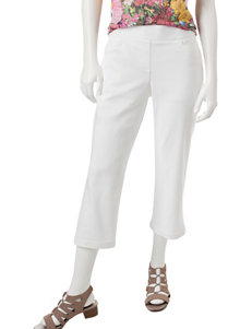 Briggs New York White Capris & Crops Stretch