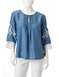 Earl Jean Denim Shirts & Blouses