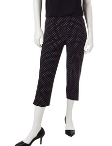 Zac & Rachel Black /  White Capris & Crops Stretch