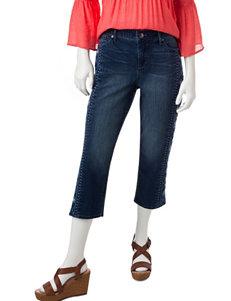 Gloria Vanderbilt Blue Capris & Crops Stretch