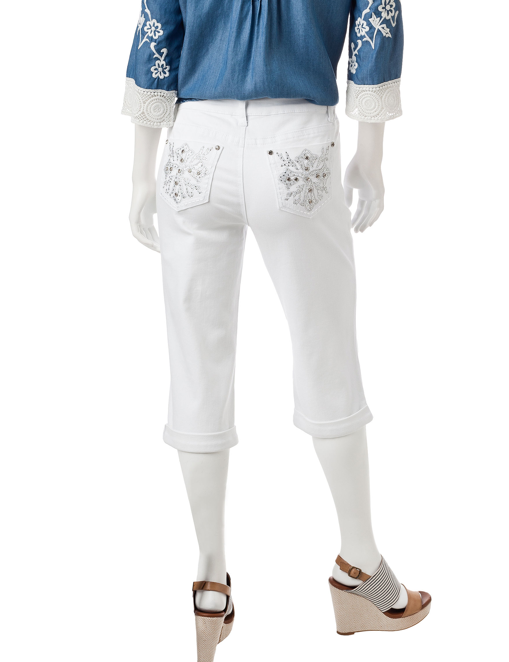Earl Jean Petite Bling Capri Pants | Stage Stores