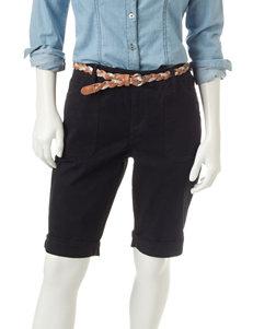Gloria Vanderbilt Black Denim Shorts