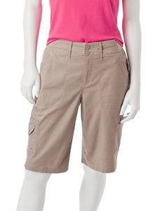Gloria Vanderbilt Latte Soft Shorts