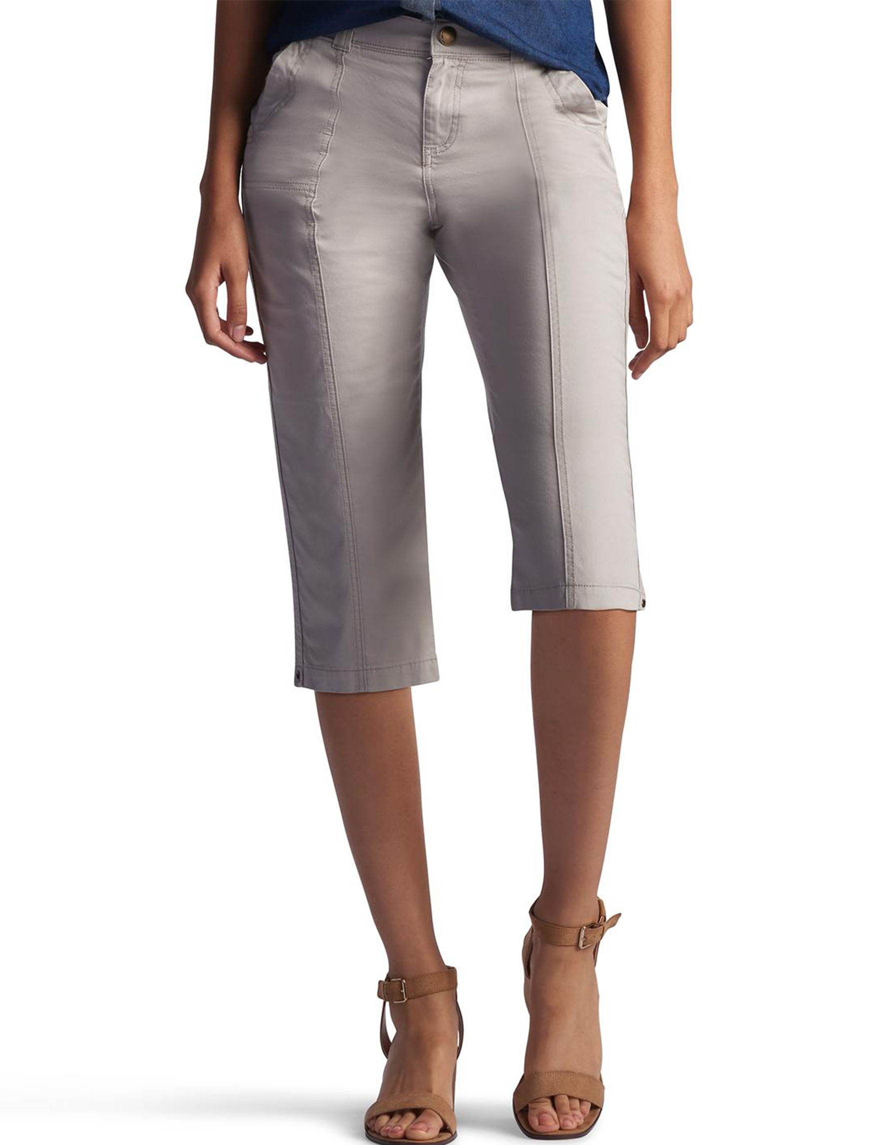 Lee Petite Lorelie Knit Capri Pants | Stage Stores