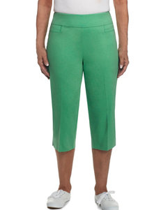 Alfred Dunner Green Capris & Crops