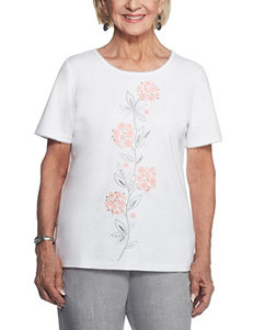 Alfred Dunner White Shirts & Blouses Tees & Tanks