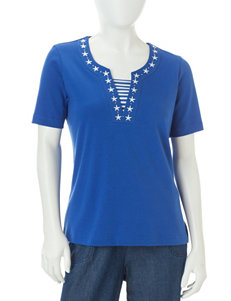Cathy Daniels Petite Embellished Inset Top