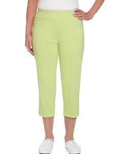Alfred Dunner Lime Capris & Crops