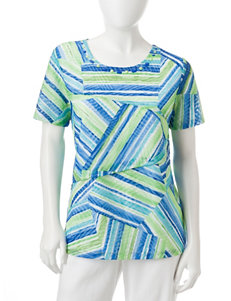 Alfred Dunner Petite Sewn-In Tiered Top