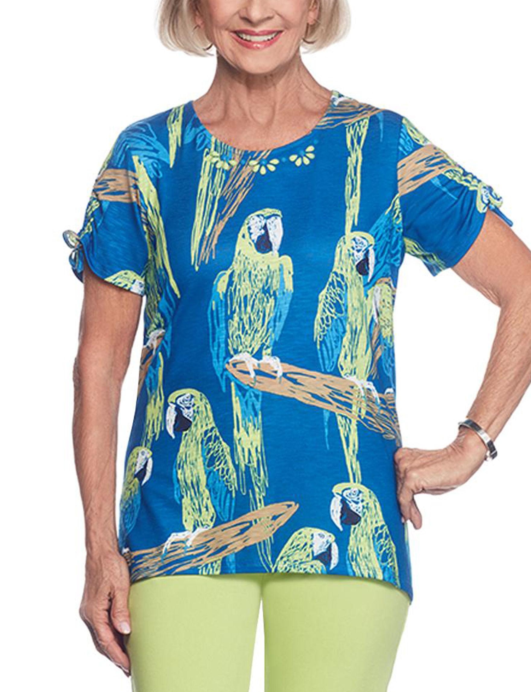 Alfred Dunner Cobalt Blue Shirts & Blouses