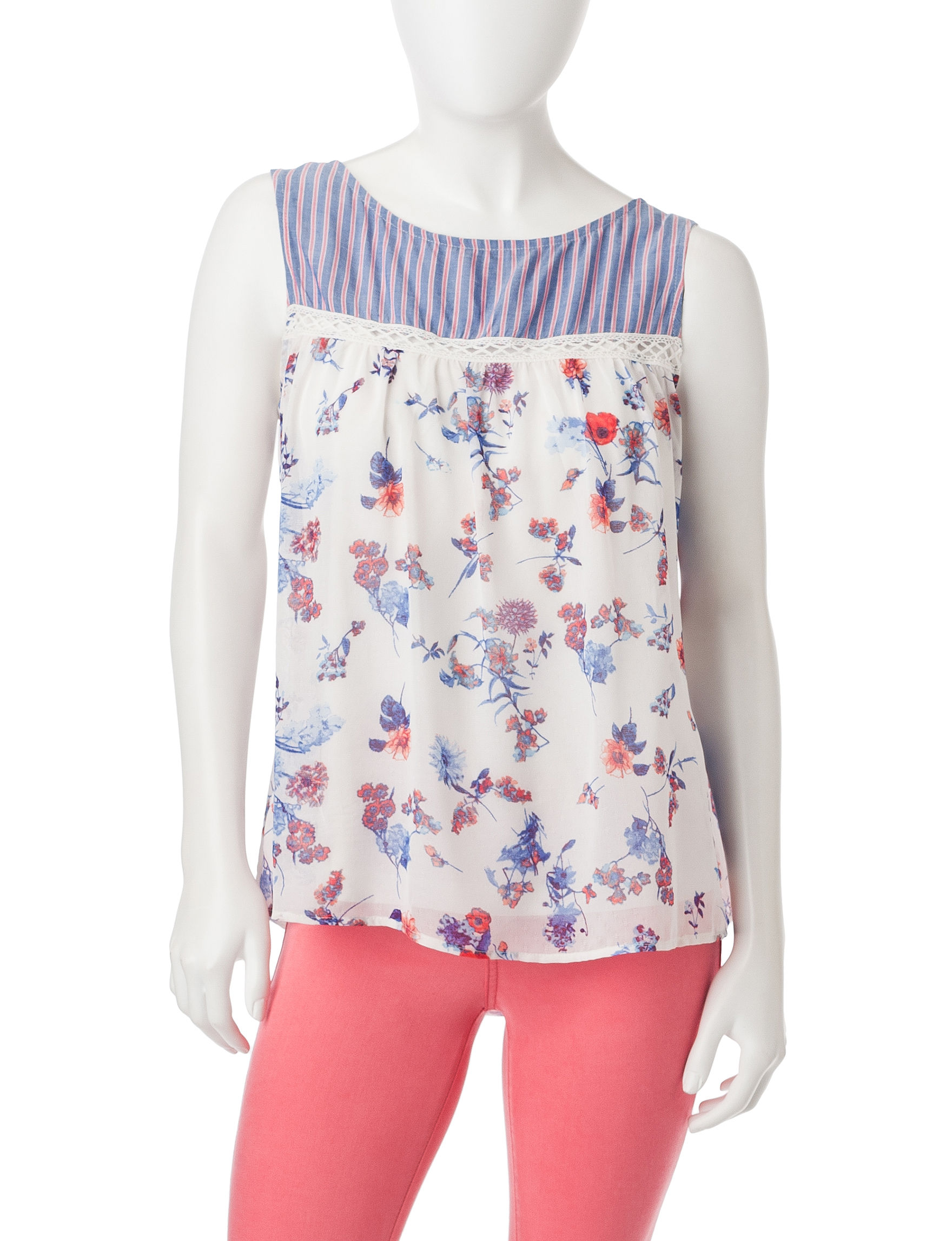 Figuero & Flower Light Blue Shirts & Blouses